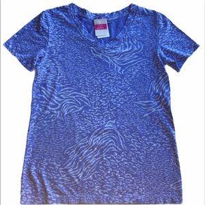 FRESH PRODUCE Sz XS T-Shirt Periwinkle & White NWT